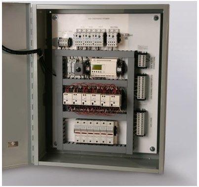 Lex PowerGate Emergency Lighting Transfer Switch, 4 Cir, 3 Ph