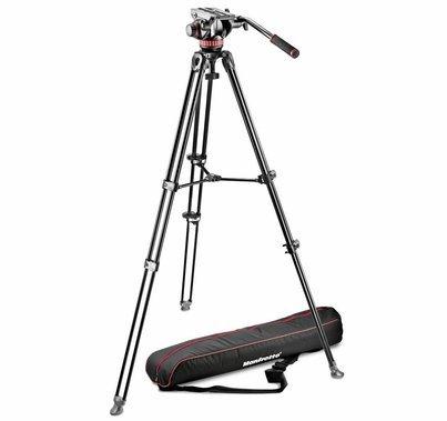 Manfrotto Video Camera Tripod Kit Telescopic Twin Leg