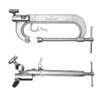 Matthews 8 inch C-Clamp w/ Double Junior Receivers 439008