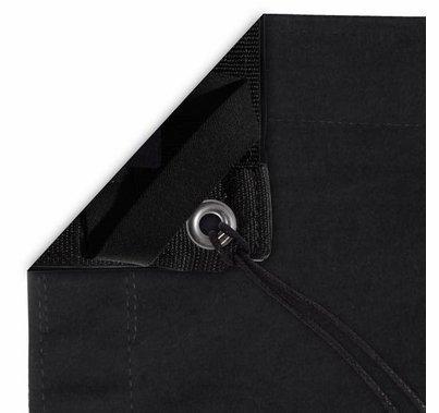 Modern Studio 10x20 Solid Black Overhead Fabric