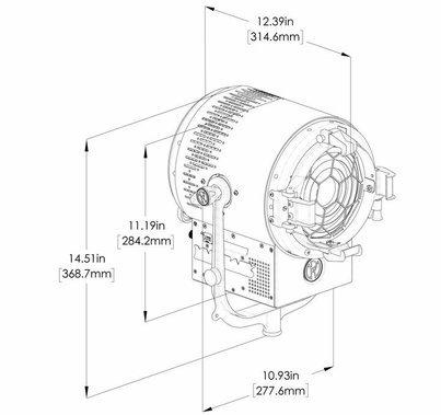 """Mole-Richardson 200W Vari-Baby 6"""" LED Fresnel"""