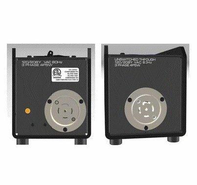 Motion Labs Breakered Stringer Box, Twist Lock L21-30 I/O X 6 Edison