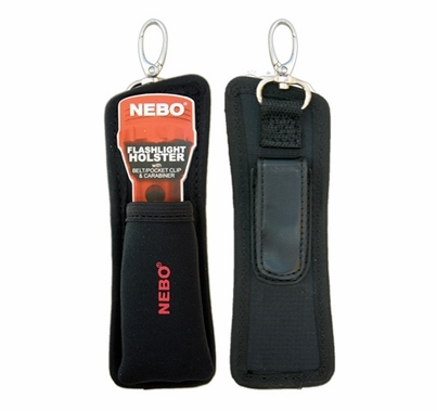 Nebo CSI Flashlight Holster with Belt/Pocket Clip & Carabiner