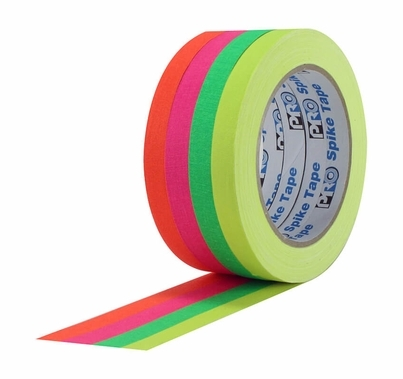 "Pro Spike Tape Stack 4 Fluorescent Colors 1/2"" x 20 yds"
