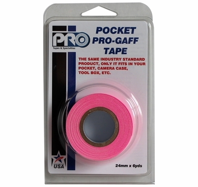 "ProTape Pocket Pro Gaff Tape 1""x6yds - Fluorescent Pink"