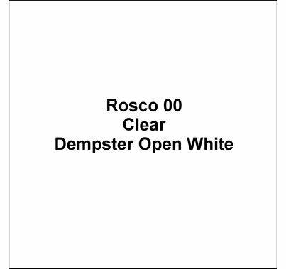 """Rosco 00 Dempster Open White Lighting Gel Sheet 20""""x24"""""""