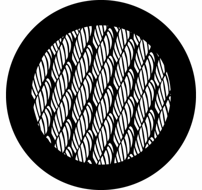 Rosco 78701 Rope Texture Steel Gobo Pattern