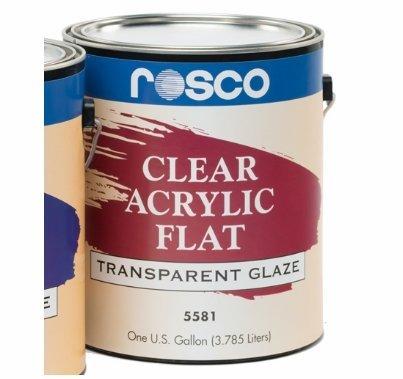 Rosco Acrylic Glaze FLAT (1) Gallon 5581