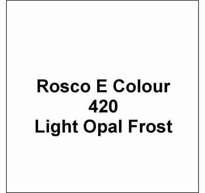 "Rosco E Colour 420 Light Opal Frost Lighting Gel Roll 48""x25ft"
