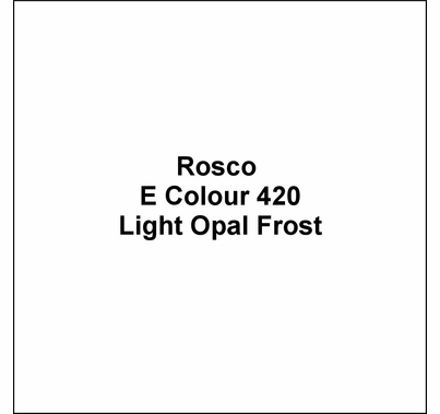 "Rosco E Colour 420 Light Opal Frost Lighting Gel Sheet 21""x24"""
