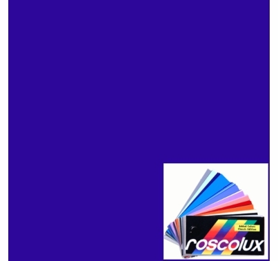 "Rosco Gel Roscolux 382 Congo Blue Filter Sheet 20""x24"""