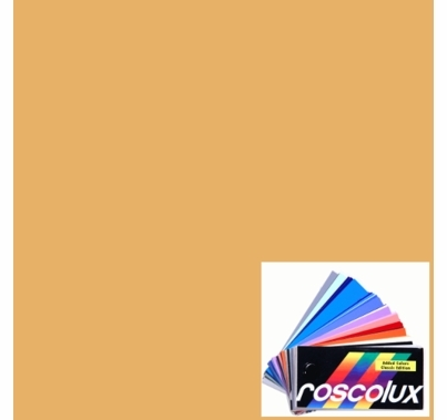 Rosco Roscolux 09 Pale Amber Gold Gel Filter Sheet