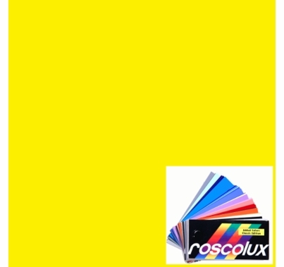 Rosco Roscolux 10 Medium Yellow Gel Filter Sheet