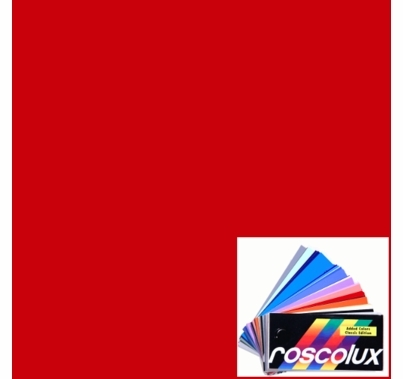 "Rosco Roscolux 26 Light Red Gel Sheet 20""x24"""