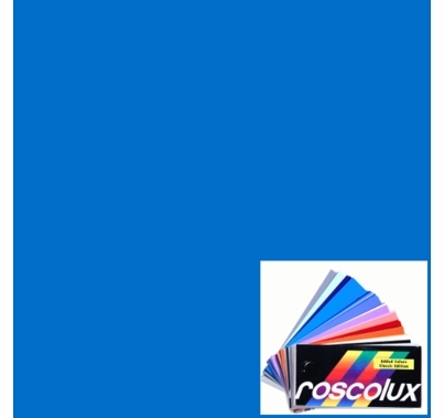 "Rosco Roscolux 69 Brilliant Blue 6"" x 6"" Gel Cut"
