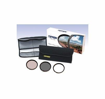 Tiffen 58mm Photo Essentials Filter Kit, UV, 812, Polarizer, 58TPK1