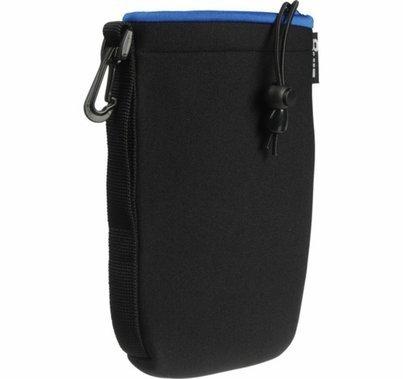Zing Large Neoprene Pouch w/ Draw String, Black / Blue