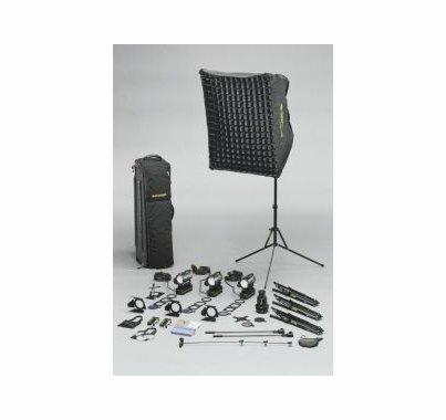 Dedolight The Interviewer Tungsten 4 Light 120V Basic Kit, S5BU