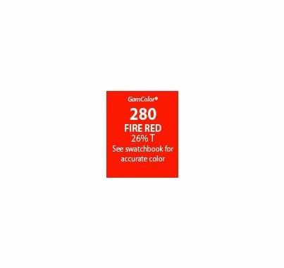 GAM GamColor 280 Fire Red Lighting Gel Filter Sheet 20 x 24 in