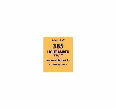 """GAM GamColor 385 Light Amber Lighting Gel Filter Sheet 20""""x24"""""""