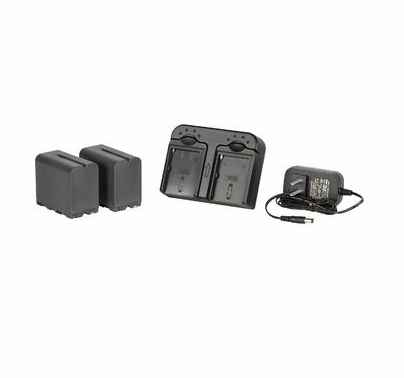 DV Camera Battery Kit w/ 2x Sony 6600mah Replacement Lithium Batteries and Charger