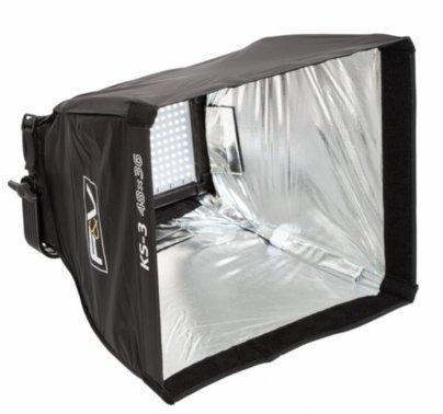 F&V Lighting KS-3 Softbox & Intensifier w/Grid for Half Panel LED Lights