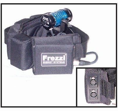Frezzi 12V 125wh Battery Belt for Lighting and Camera Dual XLR 4 Pin