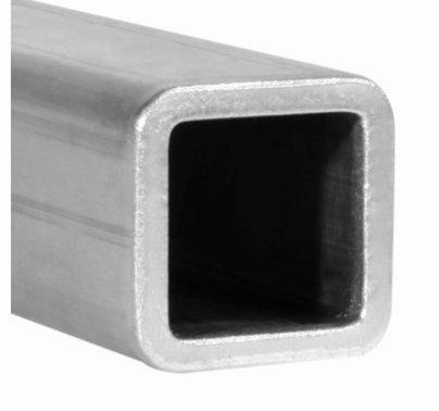 """Modern 4ft Aluminum 1""""x1"""" Square Tube Radius Edge"""