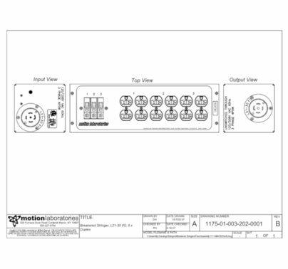 Motion Labs Breakered Stringer 6 x 20a Duplex w/ L21-30 Input