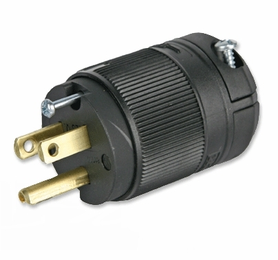 15A Male Edison Plug Black  Leviton