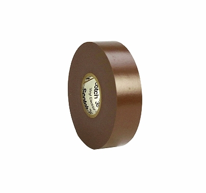 "Brown  3M 35 Electrical Tape Vinyl 3/4"" x 66 yds T179"
