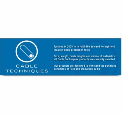 """Cable Techniques Coiled Cable 12"""" to 6' Right Angle XLR-3F to XLR-3M"""