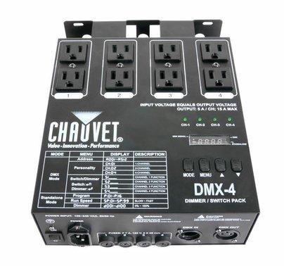 Chauvet DJ DMX 4 Channel Dimmer / Relay Pack