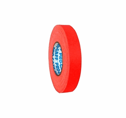 "Fluorescent Orange 1"" Camera Tape"