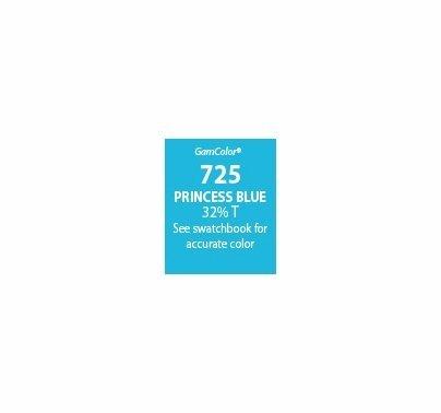 """GAM GamColor 725 Princess Blue Lighting Gel Filter Sheet 20""""x24"""""""