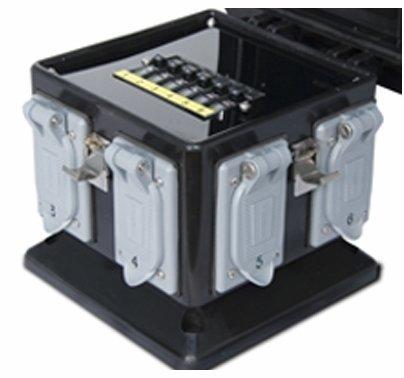 Lex 50 Amp Pagoda Jr. to GFCI Duplex Distro Box Weather Resistant
