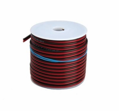 LiteGear Zip Wire Cord 18/2 Red / Black 100ft - BarnDoor Lighting