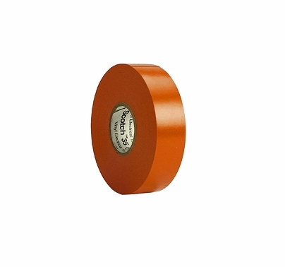 "Orange  3M 35 Electrical Tape Vinyl 3/4"" x 66 yds T127"