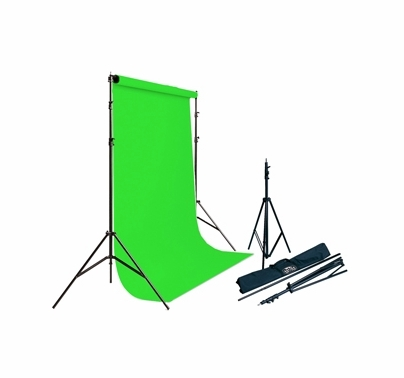 Savage Infinity Vinyl Background Kit Chroma Key Green w/ Stands
