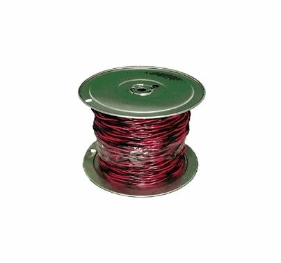 Twisted Pair 12/2 Wire Black / Red 500ft. Roll for Quick On Sockets ...