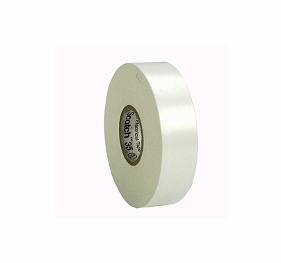 "White 3M 35 Electrical Tape Vinyl 3/4"" x 66 yds T125"