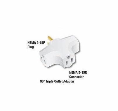 White Cube Triple Tap NEMA 5-15