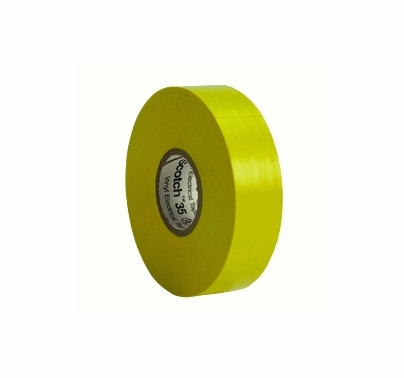 "Yellow 3M 35 Electrical Tape Vinyl 3/4"" x 66 yds T124"