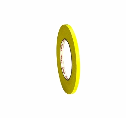 "Yellow Paper Tape 1/4"" x 60 yds Permacel 724"