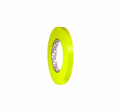"Yellow Spike Paper Tape 1/2"" x 60 yds Permacel 724"