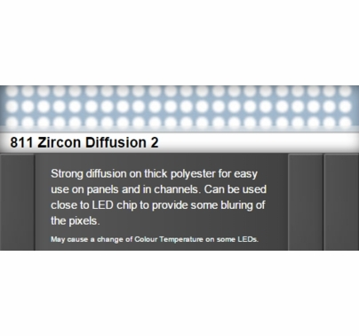 Zircon 811 Diffusion 2 LED Lighting Gel Sheet