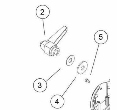 Arri M18 HMI Yoke / Stirup Tilt Lock Handle