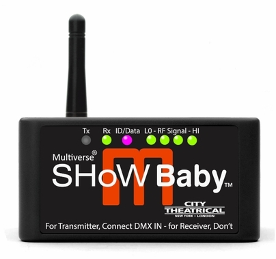 City Theatrical Multiverse Show Baby Wireless DMX Transceiver