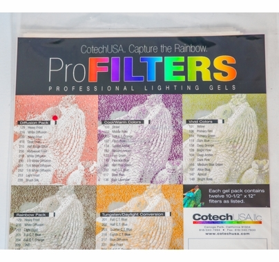 Cotech Diffusion Gel Filter Pack  12 Sheets