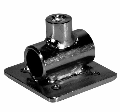 "Modern 5/8"" Diameter Fitting Receiver Plate Horizontal"